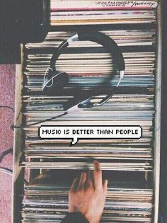 Music is better than people, sometimes