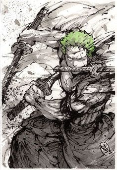 One piece - Roronoa Zoro One Piece Manga, One Piece Drawing, Zoro One Piece, Roronoa Zoro, One Piece Wallpapers, Animes Wallpapers, Panzer Tattoo, One Piece Zeichnung, Film Manga