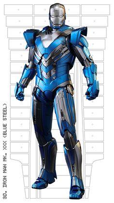 Iron Man mark XXX (Blue Steel)