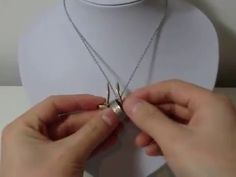 How to put on a ring on a necklace ringholder - YouTube