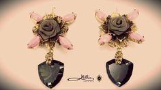 #miltonfirenze #earrings #florence #jewelry milton-firenze.com Rose Earrings, Garden Trowel, Luxury Jewelry, Accessories Shop, Jewellery, Florence, Magazine, Jewels, Jewelry Shop