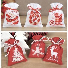Both Christmas Sachet Sets - Cross Stitch, Needlepoint, Stitchery, and Embroidery Kits, Projects, and Needlecraft Tools | Stitchery