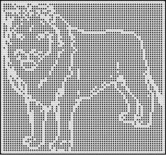 lion standing crochet afghan pattern