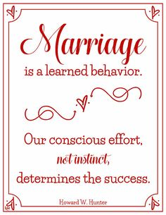 Howard W. Hunter quote (from Lesson 16) #lds #quotes Marriage And Family, Happy Marriage, Marriage Advice, Quotes Marriage, Fierce Marriage, Marriage Thoughts, Preparing For Marriage, Strong Marriage, Marriage Relationship