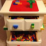 DIY Lego table from old bedroom side table