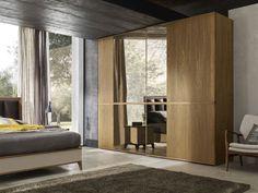 Armadio moderno / in legno / a porte scorrevoli / a specchio Brahman LE FABLIER