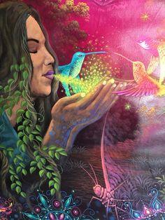 Ayahuasca peinture visionnaire peinture par ArtAsMedicine sur Etsy