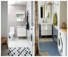 Nuapurissa: Mikrosementti kaakelin päälle Scandinavian Style Home, Little Houses, Toilet, Shower, Cabinet, Bathroom, Storage, Furniture, Home Decor