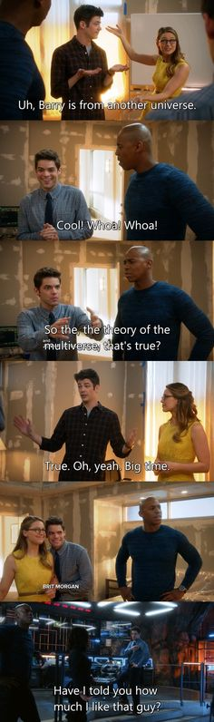 What a fantastic episode, it was a pure joy to watch. I was feeling like Winn the whole episode. I didn't watch The Flash before, but now I definitely have to see it.