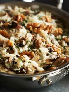 Check out Risotto with Wild Mushrooms, Walnuts and Sage recipe and more from Sur La Table! Sage Recipes, Walnut Recipes, Mushroom Recipes, Vegetarian Recipes, Cooking Recipes, Healthy Recipes, Savoury Recipes, Cooking Tips, Chanterelle Recipes