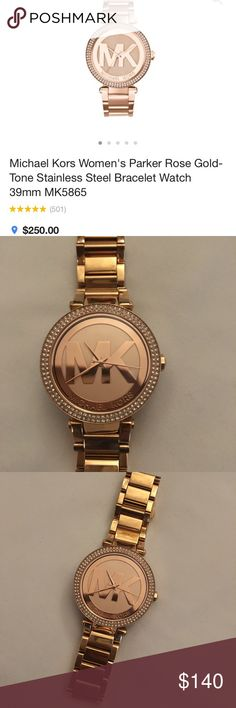 Authentic Michael Kors watch Never used!  Got it for Christmas and I'm not a watch person so this can be someone else's gift!  Michael Kors Women's Parker Rose Gold-Tone Stainless Steel Bracelet Watch 39mm MK5865 KORS Michael Kors Accessories Watches
