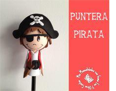 Puntera lápiz pirata.  http://manualidadescongomaeva.blogspot.com.es/2014/04/lapicero-pirata.html