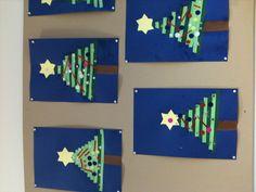 Kerstbomen vlechtstroken groep 1 2012