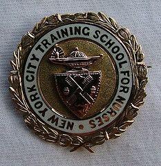 New York City Training School for Nurses Graduation Pin 1897