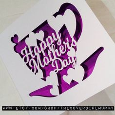 Mothers day card card for mummothers daycard by TheCoverGirlmummy