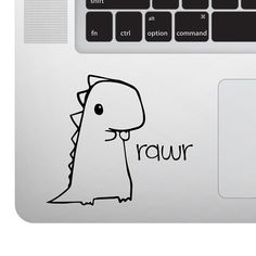 Cute Baby Dinosaur Rawr Vinyl Decal Sticker