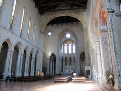 San Lorenzo Maggiore, Naples.  The church is considered unique in it kind in Italy as a classic example of French Gothic.  Here in the nave looking toward the high altar.