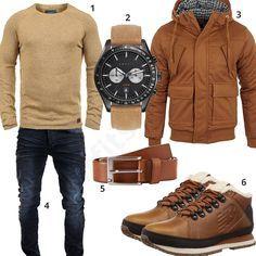 Beige-Braunes Winteroutfit mit gefütterten Schuhen (m0842) #outfit #style #herrenmode #männermode #fashion #menswear #herren #männer #mode #menstyle #mensfashion #menswear #inspiration #cloth #ootd #herrenoutfit #männeroutfit