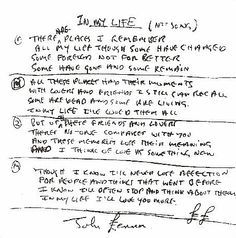 """""""In My Life"""" by The Beatles. The in-depth story behind the songs of the Beatles. Song Structure and Style. John Lennon Lyrics, John Lennon Beatles, The Beatles, Beatles Art, Life Lyrics, Music Lyrics, Music Quotes, Beatles Tattoos, Beatles Lyrics Tattoo"""
