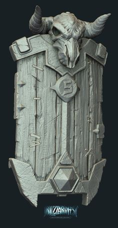 wood and metal. 3d Fantasy, Fantasy Weapons, Medieval Fantasy, Zbrush Environment, Environment Concept Art, Zbrush Models, Digital Sculpting, Game Props, Modelos 3d