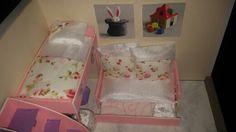 Vista oblicua de maqueta, ilustración habitación infantil con mueble múltiples funciones @niurkareyes1281
