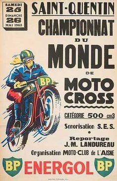 Championnat du Monde de Moto Cross, Saint-Quentin, Aisne, 25 et 26 mai 1963.