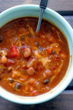 pumpkin chili: SO GOOD! I add chicken for some extra protein. The pumpkin gives it a smooth, creamy texture.