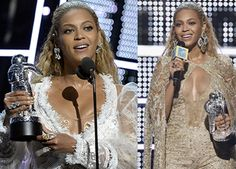Beyonce 2017 Grammys wearing all Lorraine Schwartz custom made jewelry!  Left: rectangular emerald shape diamonds set horizontally, weighed almost 40-carats each.  Two pear-shape gems weighing around 8-carats each were suspended from the larger stone.  Around 50-carats of diamonds sparkled in the rings.  Right: a butterscotch jade and champagne diamonds.   A 30-carat nude diamond ring, a 10-carat yellow diamond overlay ring and a three stone brown diamond wrap ring.