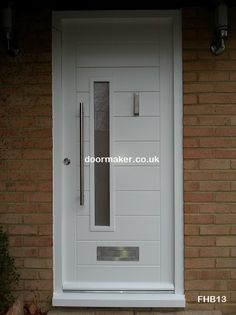 white contemporary door made to measure