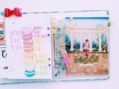 Delightful, by Niru Kumar using the Hemingway Collection from www.cocoadaisy.com  #cocoadaisy #scrapbooking #kitclub #layout #planner #dance #tassel #minibook #mini #album
