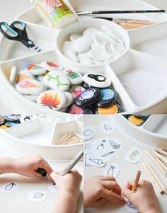 A Crafty LIVing – Story Stones: How to Make & Play www.acraftyliving… A Crafty LIVing – Story Stones: How to Cool Art Projects, Projects For Kids, Diy For Kids, Diy And Crafts, Crafts For Kids, Story Stones, Diy Pour Enfants, Weather Stones, Make Your Own Story