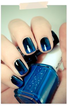 blue + black #nail #polish