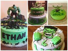 modelos de bolo de pasta americana do hulk