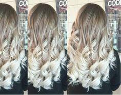 Ash blonde silver ombre