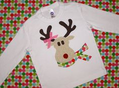 Girls Rudolph the Red Nosed Reindeer Christmas Shirt