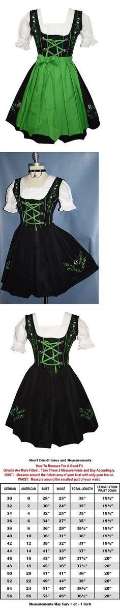 Dirndls 163143: Dirndl Oktoberfest German Dress Garden Embroidery Short 3 Pieces Complete -> BUY IT NOW ONLY: $109 on eBay!