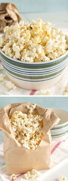 Homemade Sweet and Salty Popcorn | nourishedtheblog.com | Freshly popped popcorn drizzled with butter and honey and vanilla and sea salt is the ultimate in sweet and salty. This popcorn snack is super easy to make and gluten free too! Click for the microwave popcorn at home recipe.