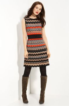 Missoni Metallic Zigzag Stripe Dress #chevron #nordstroms