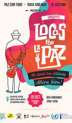 Concierto Locos por la Paz se reinventa Comic Books, Cover, Design, Concert, Day Planners, Peace, Musica, News, Comic Strips