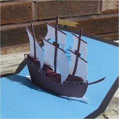 pirate ship sails template - pop up galleon pirate ship you can download the model for
