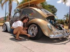 Vw beetle girl