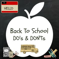 10 Do's and Don'ts for Back to School ~ The Methodical Mom | The Methodical Mom