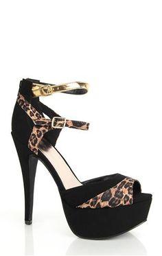 Deb Shops peep toe platform #leopard #pump $36.90