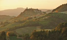 Peglio at sunset (Marche, Italy)