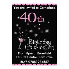 40th Birthday Free Printable Invitation Template | Birthday party ...