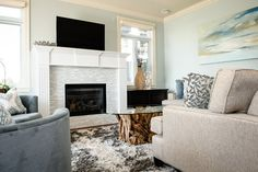 Waterfront Steveston Condo - beach-style - Living Room - Vancouver - The Spotted Frog Designs