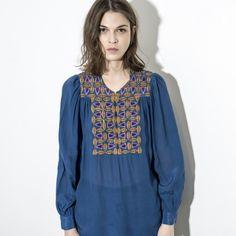54ff74e0557 Blouse Kwani Bleu - Antik Batik Accessoires Bohèmes