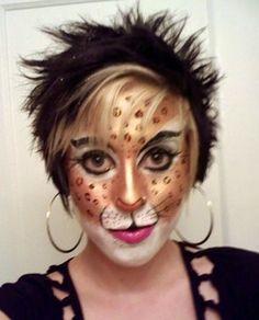 Cheetah Face, Diy Costumes, Halloween Face Makeup, Hair, Strengthen Hair