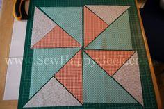 Sew. Happy. Quilt. QAL Tutorials: Friendship Star & QST Pinwheel Blocks | SewHappyGeek