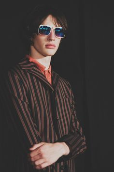 Britpop trips back to 70s psychedelia through faded prints and flares at Topman SS15 London Collections: Men. More images here: http://www.dazeddigital.com/fashion/article/20297/1/topman-design-ss15